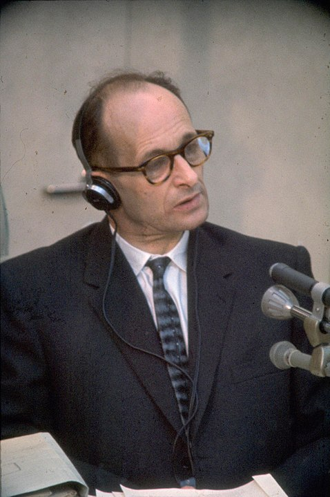 Adolf Eichmann, německý státní úředník a obersturmbannführer SS